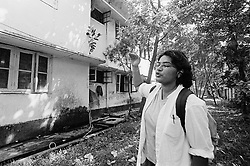 BANGLADESH DHAKA 16OCT00 - Lisa wanders around a compound in Gulshan which previously housed the Salvation Army's Orphan home. It was the place from where Lisa had been adopted to the Netherlands in 1975 as she recognised its garden and interior...jre/Photo by Jiri Rezac..© Jiri Rezac 2000..Tel/Fax: +44 (0) 20 8968 9635.Mobile: +44 (0) 7801 337 683..Email: jiri@jirirezac.com.Web: www.jirirezac.com..All pictures © Jiri Rezac 2000. All rights reserved.