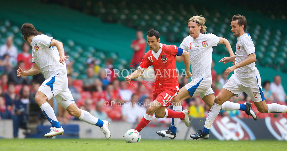 Cardiff, Wales - Saturday, June 2, 2007: Wales' captain Ryan Giggs in action against Czech Republic during the UEFA Euro 2008 Qualifying Group D match at the Millennium Stadium. (Pic by David Rawcliffe/Propaganda)