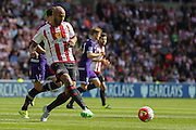 Sunderland Defender Younes Kaboul during the Barclays Premier League match between Sunderland and Tottenham Hotspur at the Stadium Of Light, Sunderland, England on 13 September 2015. Photo by Simon Davies.