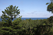 One of the multitude of scenic views of Lake Michigan that exists in Michigan's Emmet County between Cross Village and Harbor Springs.