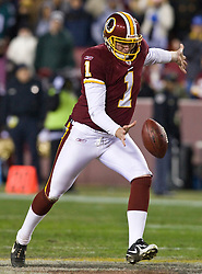 Washington Redskins punter Ryan Plackemeier (1).  The Washington Redskins defeated the Philadelphia Eagles 10-3 in an NFL football game held at Fedex Field in Landover, Maryland on Sunday, December 21, 2008.