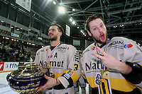 Victoire Rouen / Joie Jonathan Janil et Loic Lamperier- 25.01.2015 - Rouen / Amiens - Finale Coupe de France 2015 de Hockey sur glace<br />
