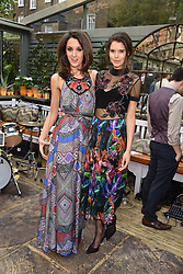 Left to right, Rosanna Falconer and Sarah Ann Macklin at The Ivy Chelsea Garden's Annual Summer Garden Party, The Ivy Chelsea Garden, 197 King's Road, London England. 9 May 2017.<br /> Photo by Dominic O'Neill/SilverHub 0203 174 1069 sales@silverhubmedia.com