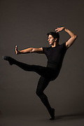Matthew Elbert poses for a portrait during a photo shoot at Bay Pointe Ballet in South San Francisco, California, on March 11, 2016. (Stan Olszewski/SOSKIphoto)