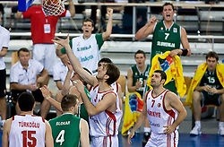Omer Asik of Turkey during the EuroBasket 2009 Group F match between Slovenia and Turkey, on September 16, 2009 in Arena Lodz, Hala Sportowa, Lodz, Poland.  (Photo by Vid Ponikvar / Sportida)