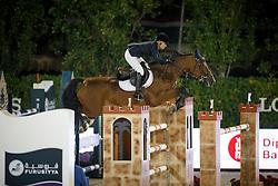 Alexander Edwina, (AUS), Heidi Du Ruisseau Z, FEI President<br /> Logines Challenge Cup<br /> Furusiyya FEI Nations Cup Jumping Final - Barcelona 2015<br /> © Dirk Caremans<br /> 25/09/15