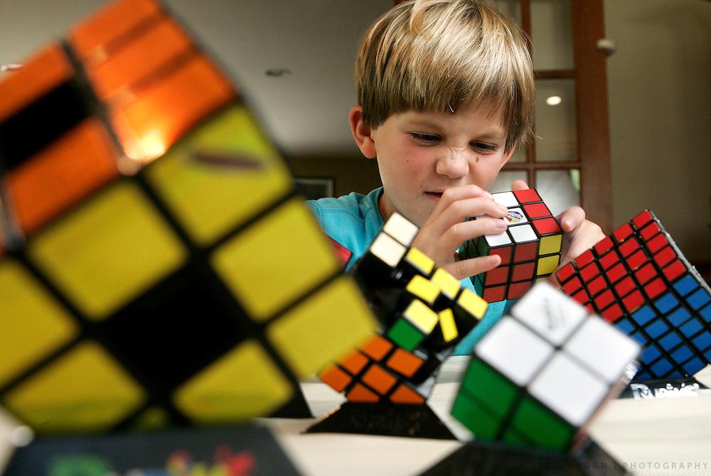 Chris Kellogg, 7, Rubik's Cube solver.SCOTT MORGAN | ROCKFORD REGISTER STAR