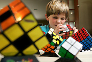 Chris Kellogg, 7, Rubik's Cube solver.SCOTT MORGAN | ROCKFORD REGISTER STAR