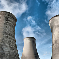Didcot protesters  power station chimney