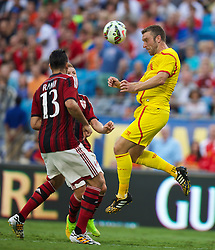 CHARLOTTE, USA - Saturday, August 2, 2014: Liverpool's Rickie Lambert in action against AC Milan during the International Champions Cup Group B match at the Bank of America Stadium on day thirteen of the club's USA Tour. (Pic by David Rawcliffe/Propaganda)