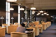 Lesesaal im Regentenbau, Bad Kissingen, Franken, Bayern, Deutschland
