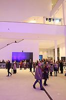 Mannheim. 15.12.17  <br /> Kunsthalle. Neubau. Nachtaufnahmen von Aussen mit der Mesh-Fassade. Er&ouml;ffnung<br /> <br /> Bild-ID 047   Markus Pro&szlig;witz 15DEC17 / masterpress