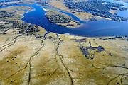 Nederland, Zuid-Holland, Harinvliet, 01-04-2016; Hellegatsplaten, ontstaan door de aanleg van de Hellegatsdam, maakt deel uit van de Volkerakwerken en onderdeel van de Deltawerken. Het natuurgebied wordt begraas door wilde paarden en heckrunderen.<br /> Nature area, result of dam build as part of the Deltaworks.<br /> <br /> luchtfoto (toeslag op standard tarieven);<br /> aerial photo (additional fee required);<br /> copyright foto/photo Siebe Swart
