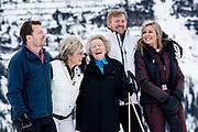 Fotosessie met de koninklijke familie in Lech /// Photoshoot with the Dutch royal family in Lech .<br /> <br /> Koningin Maxima, Koning Willem Alexander, Prinses Beatrix, Prins Constantijn en Prinses Laurentien