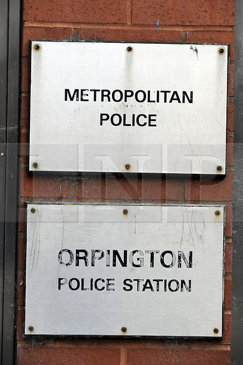 © Licensed to London News Pictures. 25/06/2012 . Orpington Police station in Orpington, Greater London, one of nine police stations that might be sold off by the Metropolitan Police in an effort to save money as part of government cost cutting. Photo credit : Grant Falvey/LNP