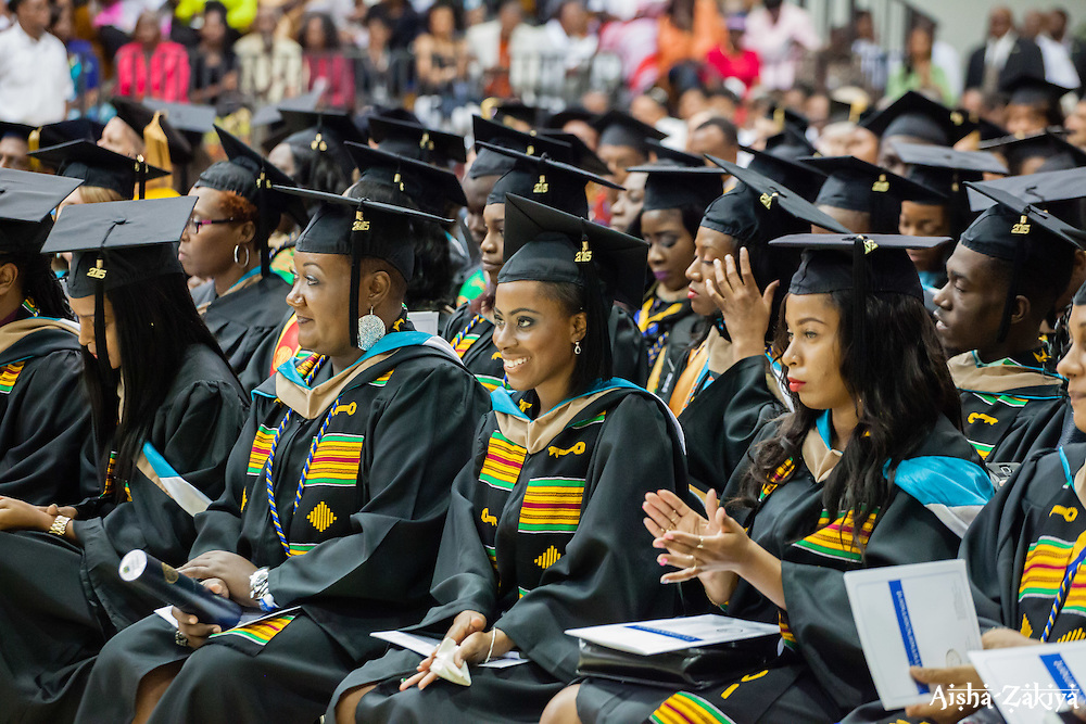 Fifty-first annual University of the Virgin Islands  Commencement Exercises.  UVI Sports & Fitness Center.  St. Thomas, VI.  14 May 2015.  © Aisha-Zakiya Boyd