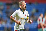 Jay Spearing DM (c) (Bolton Wanderers) runs to take a corner during the Pre-Season Friendly match between Bolton Wanderers and Burnley at the Macron Stadium, Bolton, England on 26 July 2016. Photo by Mark P Doherty.