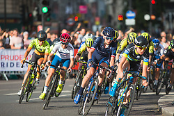 The peloton heads back to the finish line during the Prudential RideLondon Classique - a 64.8 km road race, starting and finishing in central London on July 28, 2018, in London, United Kingdom. (Photo by Balint Hamvas/Velofocus.com)