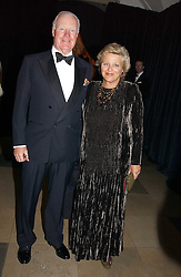 DAME VIVIEN DUFFIELD the multi millionaire art benefactor and SIR JOCELYN STEVENS at a private dinner to unveil the Van Cleef & Arpels jewellery collection 'Couture' with fashion by Anouska Hempel Couture held at The Banqueting House, Whitehall Palace, London on 8th March 2005.<br /><br />NON EXCLUSIVE - WORLD RIGHTS