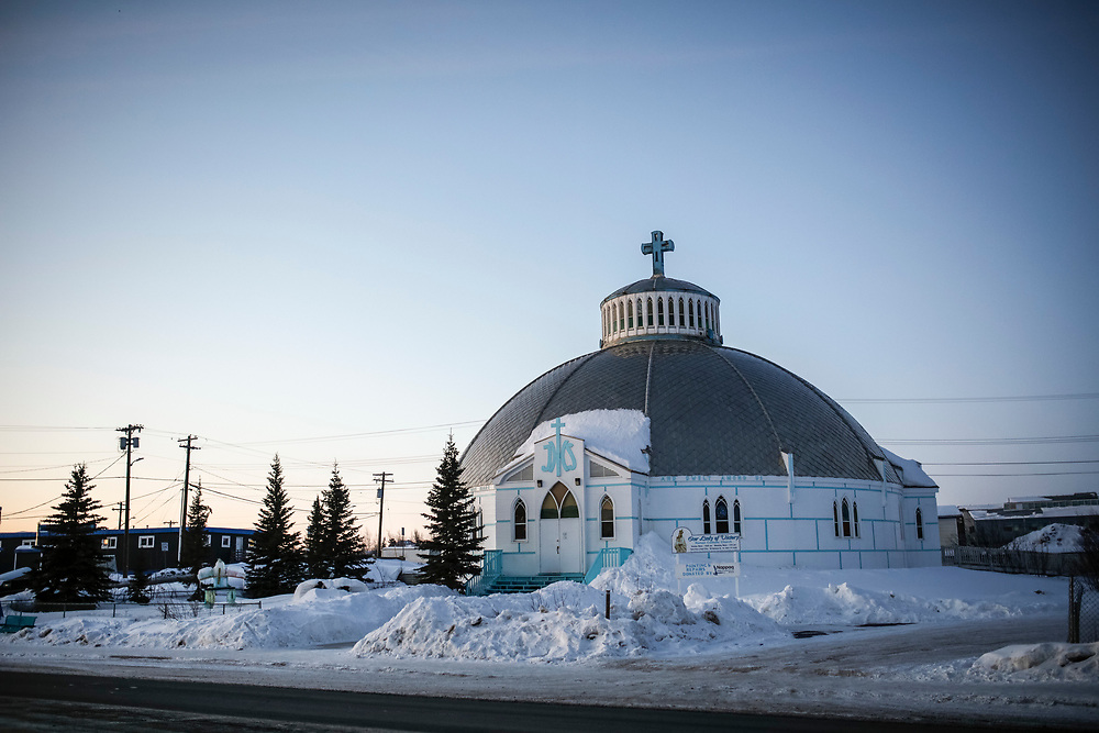 The Our Lady of Victory Catholic church in Inuvik was built to resemble an igloo.