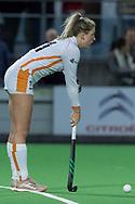 Bilthoven - SCHC - Oranje Rood Dames, Hoofdklasse Hockey Dames, Seizoen 2017-2018, 06-04-2018, SCHC - Oranje Rood 2-1, Valerie Magis (Oranje-Rood)<br /> <br /> (c) Willem Vernes Fotografie