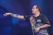 Kim Huybrechts during the PDC William Hill World Darts Championship at Alexandra Palace, London, United Kingdom on 22 December 2019.