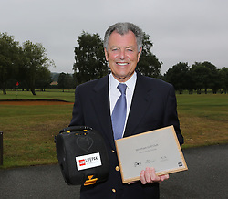 Image ©Licensed to i-Images Picture Agency. 11/07/2014. Kent, United Kingdom. Bernard Gallacher at Wrotham Heath Golf Course in Kent presenting The Defibrillator to The Club. Picture by i-Images