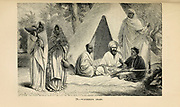 Wondering Arabs engraving on wood From The human race by Figuier, Louis, (1819-1894) Publication in 1872 Publisher: New York, Appleton