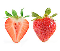 Strawberry on white backround
