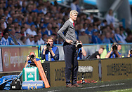 Arsene Wenger of Arsenal stands on the touchline during the Premier League match at the John Smiths Stadium, Huddersfield<br /> Picture by James Wilson/Focus Images Ltd 07522 978714<br /> 13/05/2018