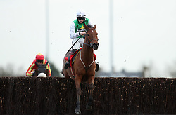 Tintern Theatre ridden by Sam Twiston-Davies wins the 32Red.com Handicap Steeple Chase during day two of the 32Red Winter Festival at Kempton Park, Sunbury on Thames.