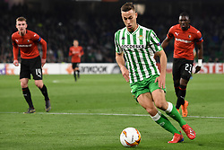 February 21, 2019 - Seville, Spain - Soccer player Sergio Canales during the Europa League round of 32 second leg soccer match between Betis and Rennes at the Benito Villamarin stadium, in Seville, Spain, Thursday, Feb. 21, 2019. (Credit Image: © Gtres/NurPhoto via ZUMA Press)