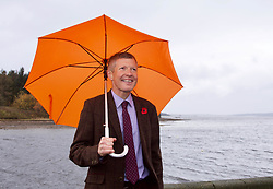 Leader of the Scottish Liberal Democrats Willie Rennie launching the party's election campaign at Cramond, Edinburgh. Pic: Terry Murden @edinburghelitemedia
