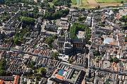 Nederland, Noord-Brabant, Den Bosch, 08-07-2010; Sint-Janskathedraal - Kathedrale Basiliek van Sint-Jan Evangelist. .St. John's Cathedral - Cathedral of St. John Evangelist..luchtfoto (toeslag), aerial photo (additional fee required).foto/photo Siebe Swart
