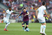 Lionel Messi of FC Barcelona during the UEFA Champions League, Group B football match between FC Barcelona and PSV Eindhoven on September 18, 2018 at Camp Nou stadium in Barcelona, Spain - Photo Manuel Blondeau / AOP Press / ProSportsImages / DPPI