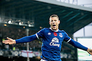 Ross Barkley (Everton) celebrates scoring Everton's second goal. 2-0  during the Premier League match between Everton and West Ham United at Goodison Park, Liverpool, England on 30 October 2016. Photo by Mark P Doherty.