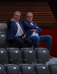 10-08-2019 NED: FIVB Tokyo Volleyball Qualification 2019 / Belgium - Netherlands, Rotterdam<br /> Third match pool B in hall Ahoy between Belgium vs. Netherlands (0-3) for one Olympic ticket / Joep van Iersel, Frans Loderus