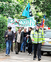 London - JUNE 09: Protest walk against missiles over Greenwich for Olympics, Oxleas Woods, London, UK. 09 June 2012. (Photo by piQtured)