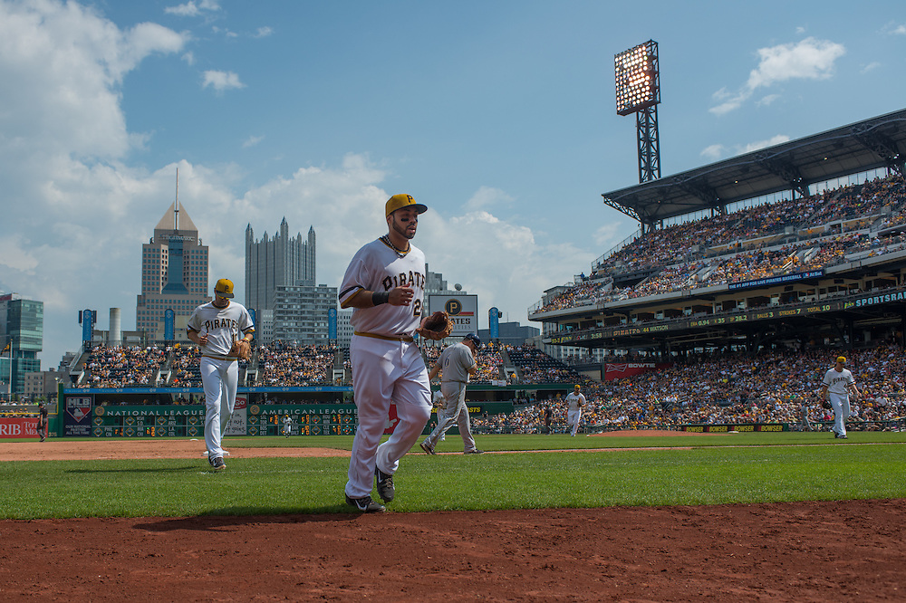 PITTSBURGH, PA - JUNE 08: Pedro Alvarez #24 of the Pittsburgh Pirates looks on during the game against the Milwaukee Brewers at PNC Park on June 8, 2014 in Pittsburgh, Pennsylvania. (Photo by Rob Tringali) *** Local Caption *** Pedro Alvarez