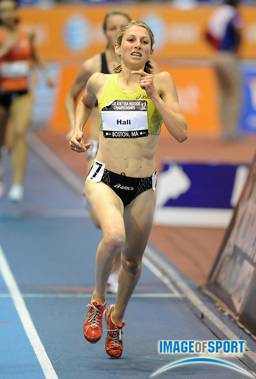 Feb 23, 2008; Boston, MA, USA; Sara Hall was third in the women's 1,500m in 4:19.23 in the AT&T USA Track & Field Indoor Championships at the Reggie Lewis Center.