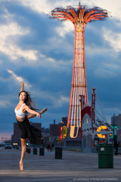 Ballerina on the Boardwalk Dance As Art- The New York Photography Project featuring Sabrina Imamura