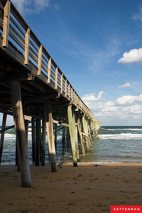The Flagler Beach Pier on Florida's east coast.