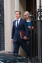 London, September 3rd 2014. Prime Minister David Cameron leaves no. 10 Downing Street  for Prime Minister's Question time in the House of Commons. PAYMENT/CONTACT DETAILS: paul@pauldaveycreative.co.uk Te' +44 (0) 7966 016 296 or +44 (0) 208 969 6875
