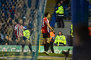 Sunderland Midfielder, Luke O'Nien (13) celebrates after scoring a goal to make it 2-1 during the EFL Sky Bet League 1 match between Portsmouth and Sunderland at Fratton Park, Portsmouth, England on 22 December 2018.