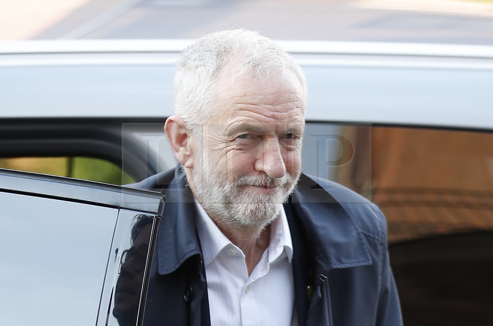 © Licensed to London News Pictures. 31/10/2019. London, UK. Labour Party Leader Jeremy Corbyn arrives at Battersea Arts Centre. Labour are launching their election manifesto today. Photo credit: Peter Macdiarmid/LNP