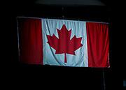 KELOWNA, CANADA - SEPTEMBER 22:  Canadian Flag at the Kelowna Rockets game on September 22, 2017 at Prospera Place in Kelowna, British Columbia, Canada.  (Photo By Cindy Rogers/Nyasa Photography,  *** Local Caption ***