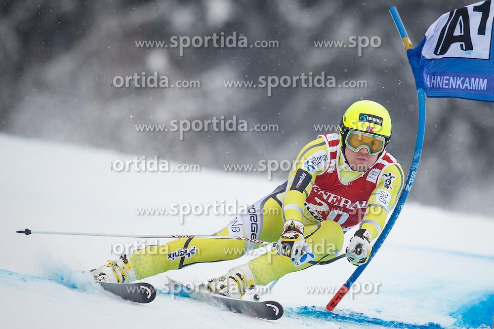 25.01.2013, Streif, Kitzbuehel, AUT, FIS Weltcup Ski Alpin, Super G, Herren, im Bild Kjetil Jansrud (NOR) // Kjetil Jansrud of Norway in action during mens SuperG of the FIS Ski Alpine World Cup at the Streif course, Kitzbuehel, Austria on 2013/01/25. EXPA Pictures © 2013, PhotoCredit: EXPA/ Johann Groder