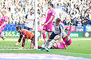 Bolton Wanderers midfielder Ali Crawford score a goal                                         during the EFL Sky Bet League 1 match between Bolton Wanderers and Rochdale at the University of  Bolton Stadium, Bolton, England on 19 October 2019.