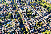 Nederland, Utrecht, Gemeente Utrecht, 30-09-2015; Oudegracht en Springweg, Geertekerk.<br /> Downtown Utrecht, city centre with canals.<br /> luchtfoto (toeslag op standard tarieven);<br /> aerial photo (additional fee required);<br /> copyright foto/photo Siebe Swart