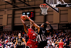 Marcus Delpeche of Bristol Flyers goes for the basket - Photo mandatory by-line: Robbie Stephenson/JMP - 01/03/2019 - BASKETBALL - Eagles Community Arena - Newcastle upon Tyne, England - Newcastle Eagles v Bristol Flyers - British Basketball League Championship